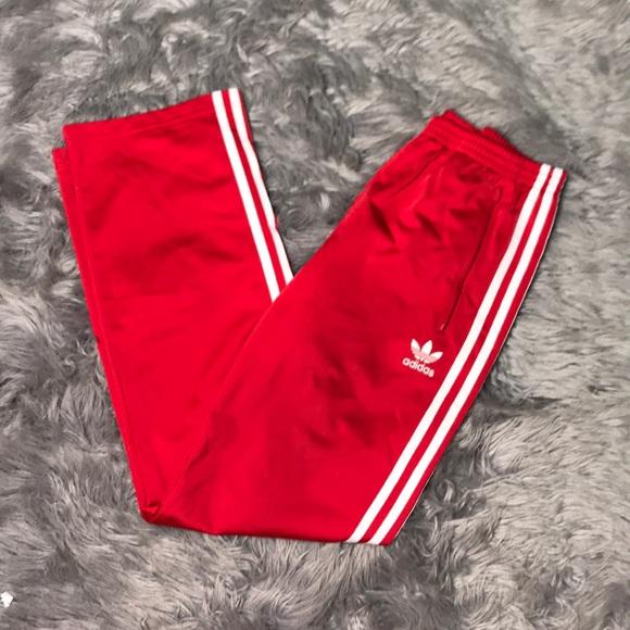 39f24af6c3a6 adidas Bottoms   Boys Xl Red Straight Leg Track Pants   Poshmark